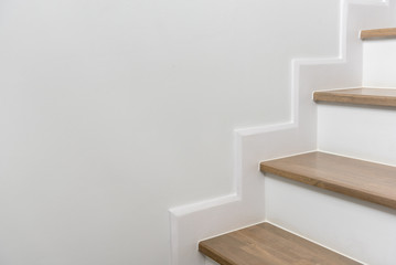 wooden staircase interior decoration