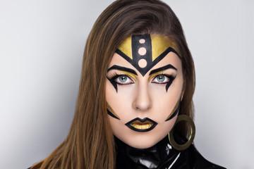 golden robot woman