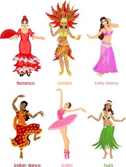 Various style dancing