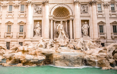The amazing Trevi fountain in Rome