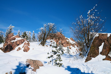 Winterlandschaft im Gebirge