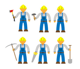 Blue collar workers set