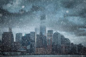 storm in Manhattan.