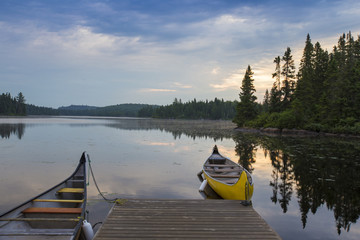 Summer morning in La Mauricie National Park, Quebec, Canada