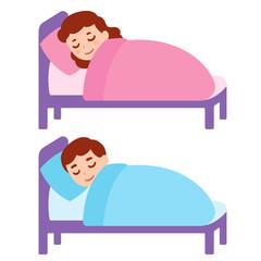 Sleeping girl and boy