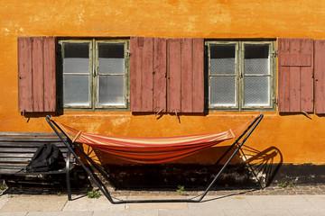 Orange House with Hammock Copenhagen Denmark