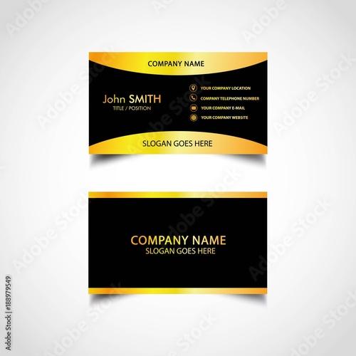 Golden business card template vector illustration eps file stock golden business card template vector illustration eps file reheart Gallery