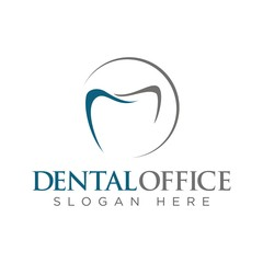 Simple line  graphic  dental logo design template vector illustration