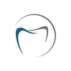 Simple line  graphic  dental logo design template vector illustration