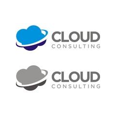 Cloud logo design template vector illustration