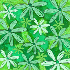 Green Tropical Patterned Background Graphic