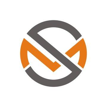 MS logo, sm logo design template vector illustration
