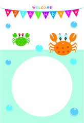 cute crab baby shower greeting card