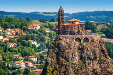 Saint Michel d'Aiguilhe Chapel in Le Puy en Velay, France