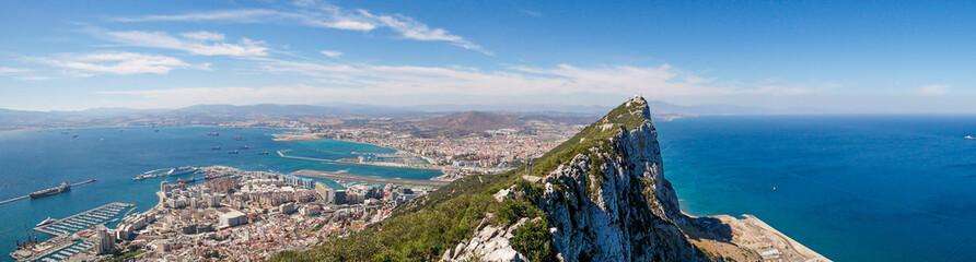 Rock of Gibraltar - panoramic view