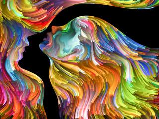 Obraz Abstract Portrait - fototapety do salonu