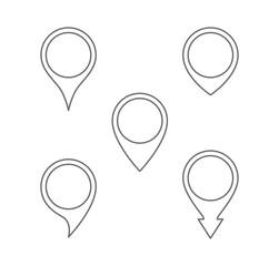 pin map icon set