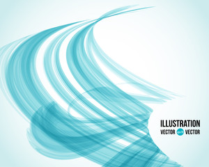 Vector abstract white and blue background