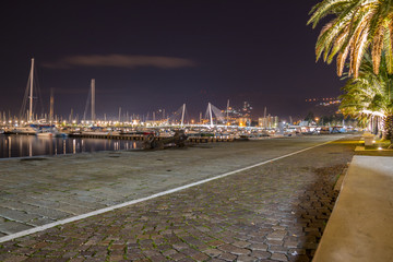 Il porto commerciale e turistico di La Spezia, Liguria, Mar Ligure, Italia