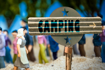 Schild 310 - Camping