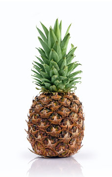 Fresh ripe whole pineapple for healthy nutrition