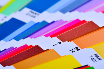 Color Palette Guide Close Up. Colorful Swatch Catalog