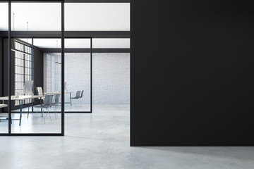 Minimalistic office with copy space