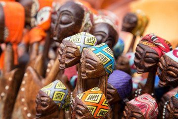 African carved group of women