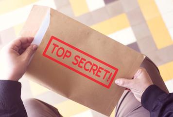 top secret!  on brown envelope