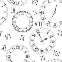 Time background. Clocks