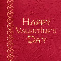 Vintage greeting card Happy Valentine's Day