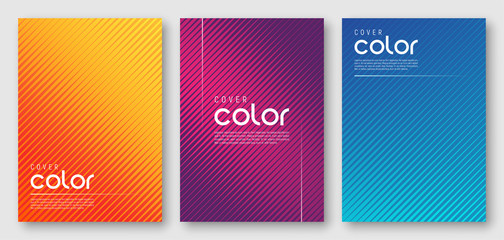 Abstract gradient geometric cover designs Fotoväggar