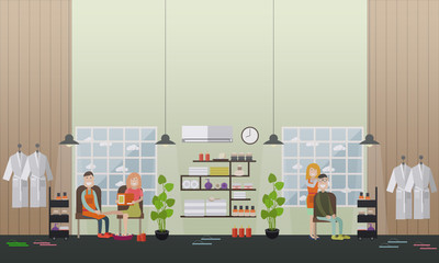 Spa salon services concept vector flat illustration