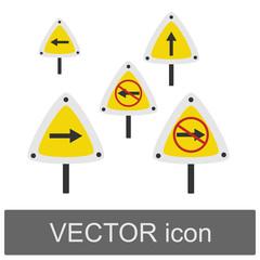 Vector cartoon stripes cartoon traffic signs
