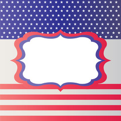 American  USA stars and stripes patriotic traditional vintage american poster design