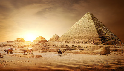 Photo sur Plexiglas Egypte Pyramids of Egypt