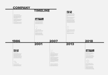 Modern timeline template with nice typography