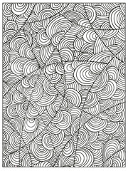 Hand drawn Difficult Circle Abstract Adult Coloring book page. Can be used as adult coloring book, coloring page, card, illustration vector