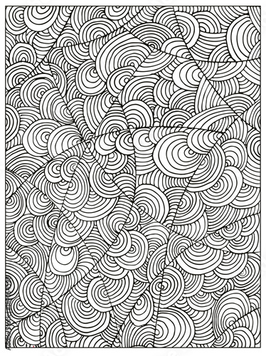Hand drawn Difficult Circle Abstract Adult Coloring book ...