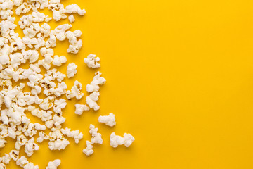 popcorn on a yellow