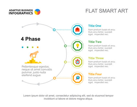 Four Phases Chart Slide Template