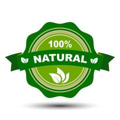 100 percent natural – stock vector