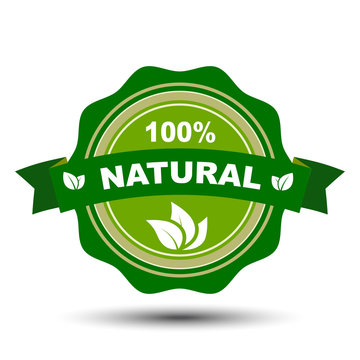 100 percent natural – stock vector
