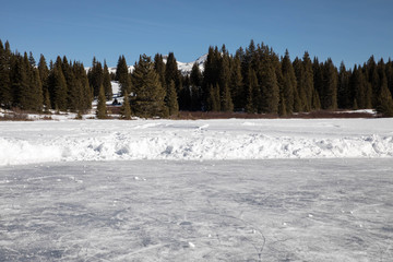 Pond ice rink in San Juan National Forest