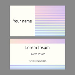 Business card. Decorative holographic background