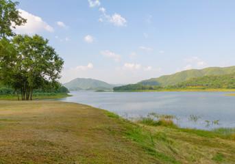 land and lake view at .Kaeng Krachan National Park, Thailand