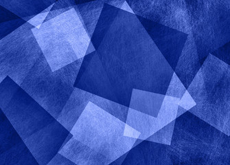 blue and white abstract background with diamond block and triangle shapes in geometric pattern, modern graphic art design