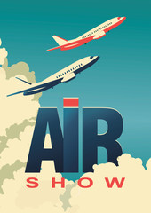 air show poster airplane