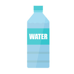 water bottle vector icon illustration flat design