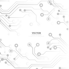 Circuit board, technology background. Vector illustration. EPS 10